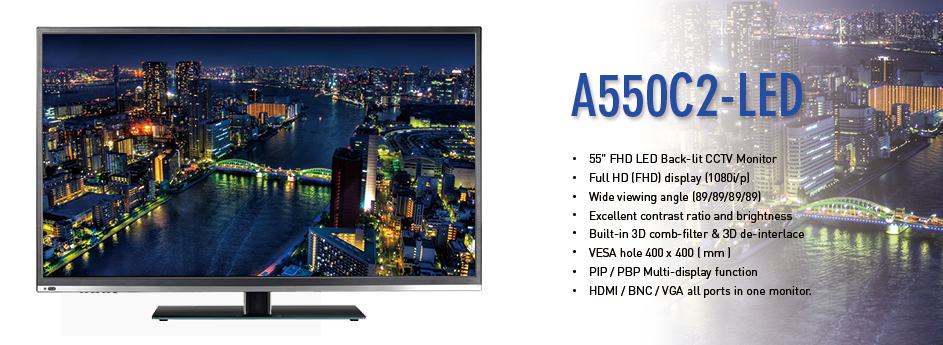 55″ Full HD CCTV Monitor